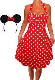 funfash plus size halloween costume red white polka dot dress minnie m