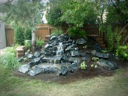 lawn u0026 garden futuristic stone backyard waterfall designs with