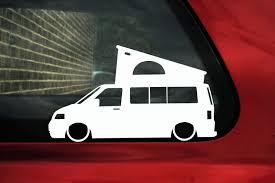 volkswagen california camper 2x low car outline stickers for volkswagen vw t5 california camper