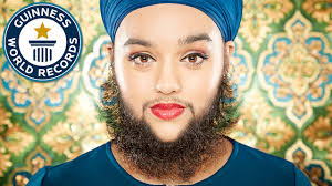 stop womens chin hair growth youngest female with a full beard meet the record breakers youtube