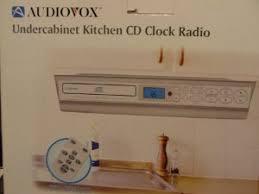 Under Kitchen Cabinet Tv Dvd Cd Player Radio Undercabinet Kitchen Cd Clock Radio By Audiovox 90 00 Cd