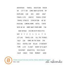 travel phrases images Ali edwards design inc travel collection digital travel phrases jpg