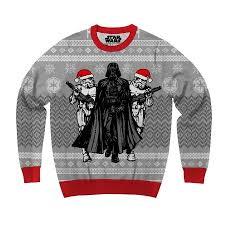 sweater walmart wars darth vader and stormtrooper elves