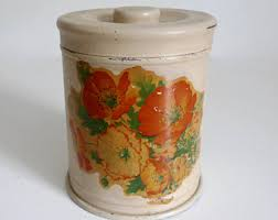 orange canisters etsy