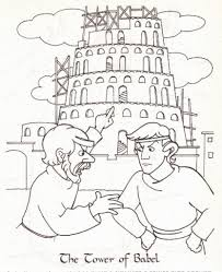 color3 a lot of brick to build the tower of babel coloring page