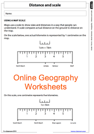 grade 7 online geography worksheet distance and scale for more