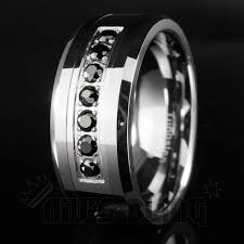 Home Design Diamonds Mens Black Titanium Wedding Bands With Diamonds Tungsten With