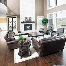 Living Room Brown Leather Sofa Fireplace Terrific Living Room Furniture With Brown Leather