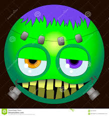 happy halloween clipart eps cute frankenstein emoji smiley stock