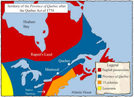 Map Of Quebec The First British Governors U2013 Societies And Territories