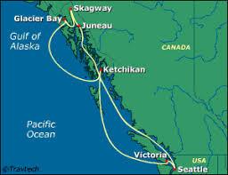 seattle map usa alaska itinerary maps information alaska cruises and land tours
