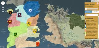 Map Of Westeros World by Westeros And Essos Are Now On Google Maps