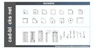 Floor Plan Shower Symbol Bathroom Cad Blocks Showers And Mixers In Plan And Elevation View