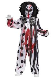 killer clown costume child bleeding killer clown costume