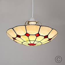 stained glass ceiling light fixtures tiffany red cortez jewel pendant ceiling light shade amazon co uk