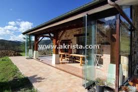 porches acristalados cerramientos de porches acristalados con cortinas de cristal