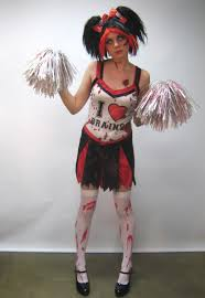 Halloween Cheer Costumes Zombie Cheerleader Costume Creative Costumes