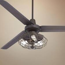 Ceiling Fan With Cage Light Farmhouse Ceiling Fan I Like This Ceiling Fan Because It Matches