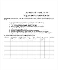doc 585480 equipment inventory template u2013 equipment inventory