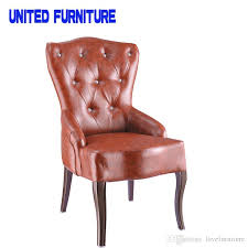 Accent Chair Modern 2018 French Designer Metallic Iron Leather Chair Accent Chair