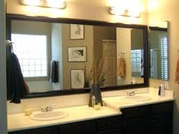 Large Bathroom Mirror Frames Wooden Framed Bathroom Mirror Bathroom Framed Mirrors Design Maple