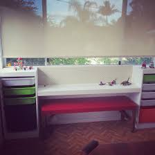 home design by annie home project ikea trofast and pegboard lego bench painted in pure