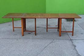 Extended Dining Table Bruno Mathsson U0027maria U0027 Dining Table In Teakwood With Extending