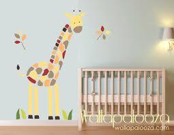 giraffe wall decal nursery wall art giraffe wall art