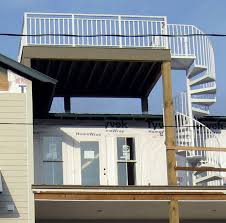 roof deck railing deck design and ideas
