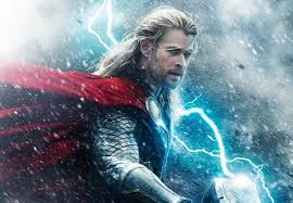 marvel why is thor s hammer blue in his age of ultron poster