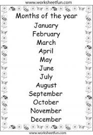 esl months of the year vocabulary cards and worksheet activities