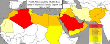 Map Of Middle East And North Africa by German Arms Transfer To North Africa And The Middle East From 1999