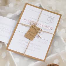 Cheap Rustic Wedding Invitations Cheap Rustic Theme Layered Wedding Invitations With Twines Ewls046