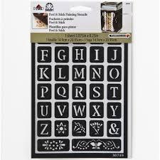 folkart peel u0026 stick painting stencils old alphabet