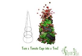 make a christmas tree using a tomato cage and deco poly mesh youtube