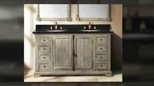 Solid Wood Bathroom Cabinet Weathered Wood Driftwood Solid Wood Bathroom Vanities By