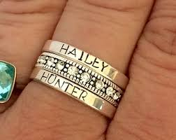 personalized rings personalized ring etsy