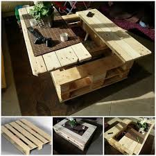 Diy Wood Pallet Coffee Table by 50 Wonderful Pallet Furniture Ideas And Tutorials