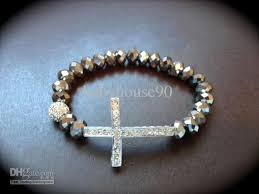 silver cross bracelet charm images 2018 side ways cross bracelets diamond cross charm bracelet jpg