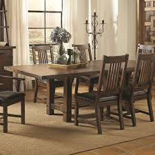 dining table coaster padima rustic rough sawn dining table with