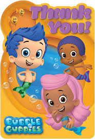 bubble guppies thank you notes 8 birthdayexpress com