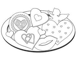 Valentine S Day Coloring Pages Coloring Cookies