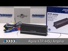 alpine ktp 445u amplifier review youtube