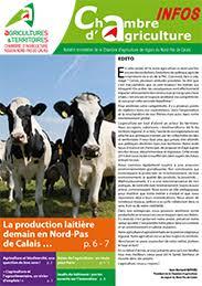 chambre agriculture du nord la production laitière demain en nord pas de calais revue chambre