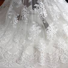 wedding dress material aliexpress buy 2016 new wedding lace fabric with sequins