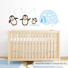 Bird Wall Decals For Nursery by Penguin Family Printed Wall Decal