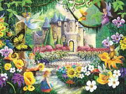 images of fairy tale garden wallpaper sc