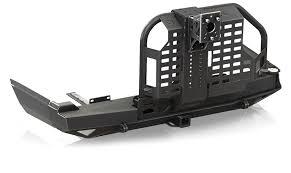 jeep cherokee rear bumper smittybilt new xj xrc rear bumper w tire carrier u2013 taw all access