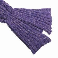 fashion handmade knitted mermaid tail blanket keep warm crochet