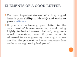 letter writing communication skills